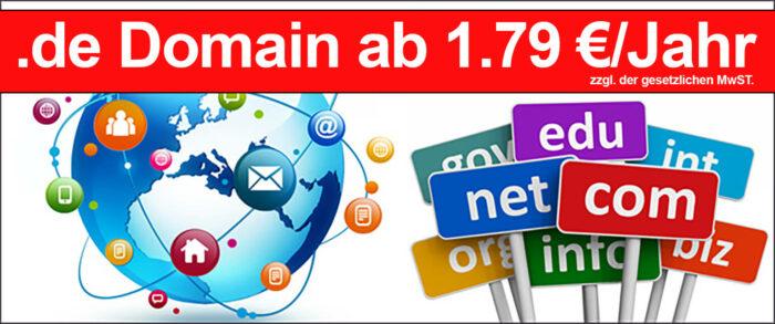.de Domain registrieren